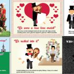 4 Weddings, series of illustrations