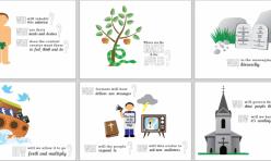 Set of evolution illustrations