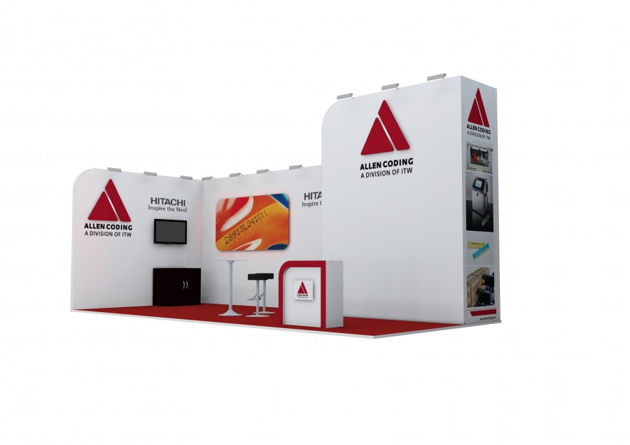 Allen Coding Space Only Bespoke Build Exhibition Stand Concept