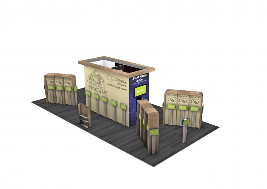 Creative Products Space Only Bespoke Build Exhibition Stand Design