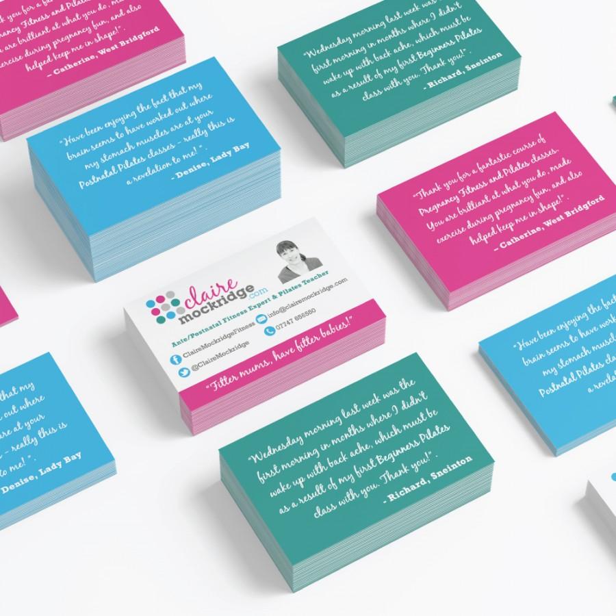 Claire-Mockridge business card design