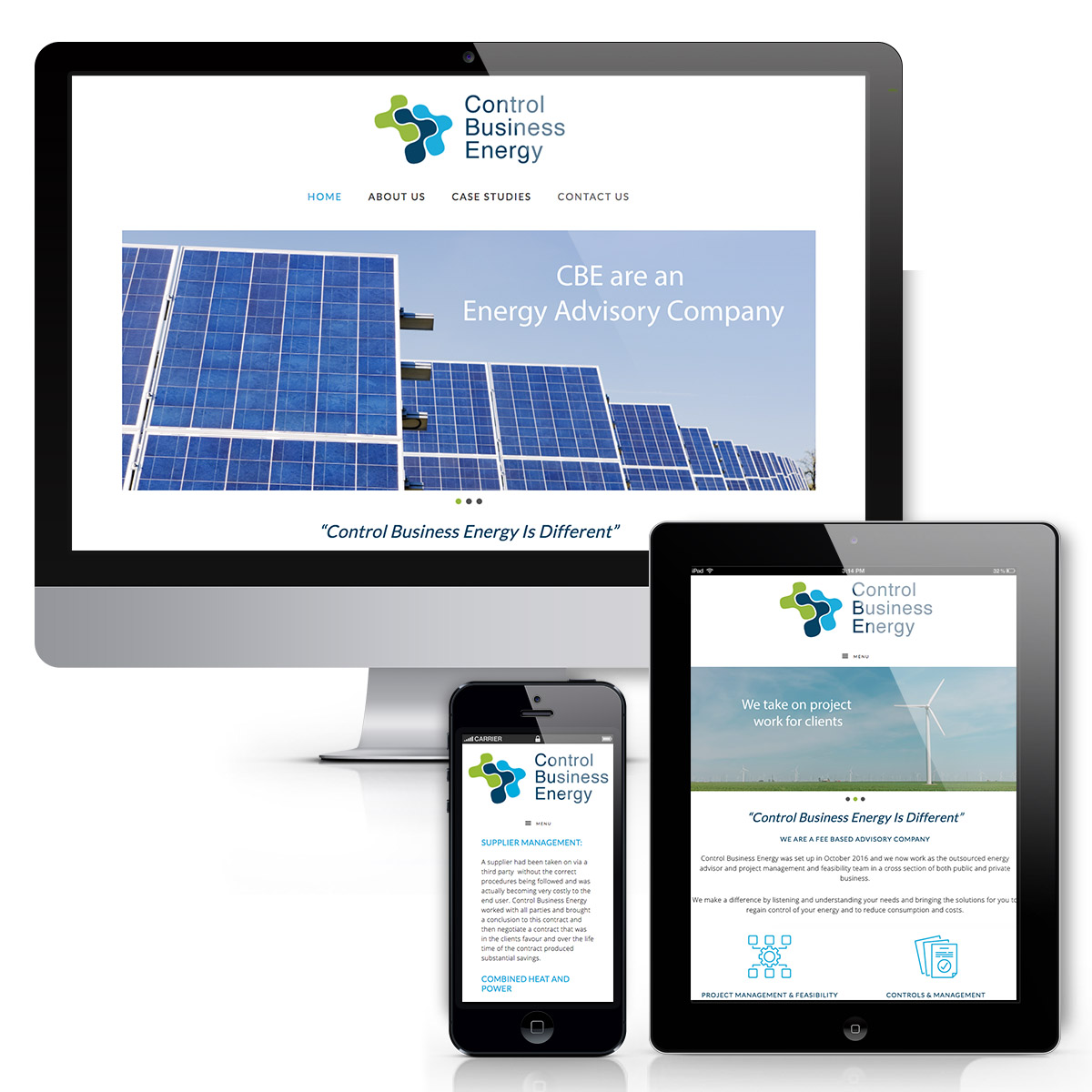 Control Business Energy Website Design