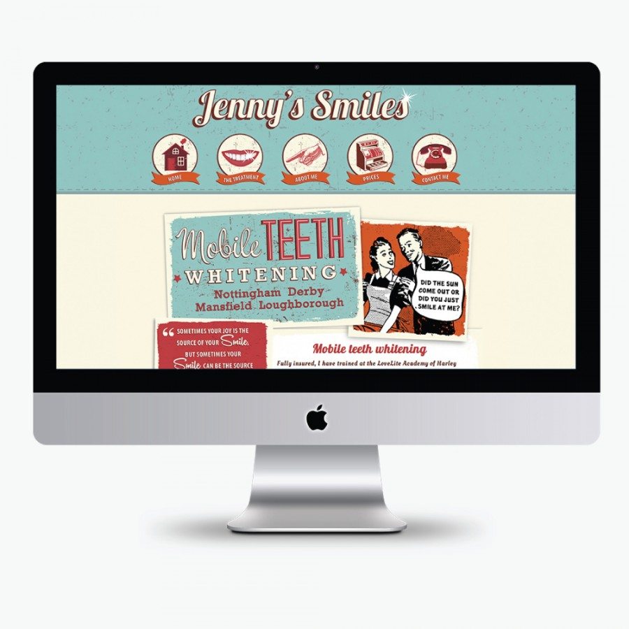 Jenny-Smiles Retro web design