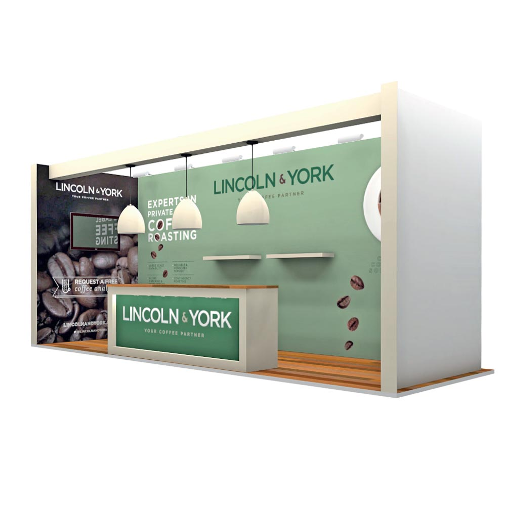Lincoln-and-York Bespoke Space Only Exhibition Stand Design