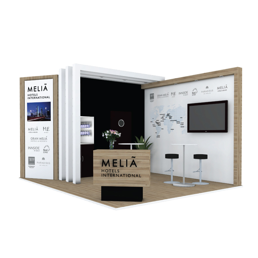 Melia Hotels bespoke space only exhibition stand design