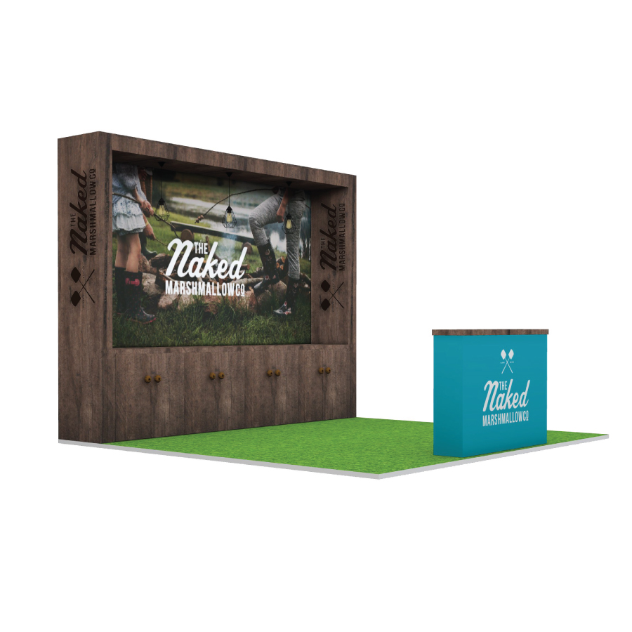 Naked Marshmallow Co bespoke space only exhibition stand design