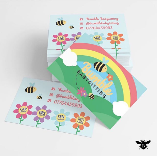 Bumble Babysitiing Business Card design