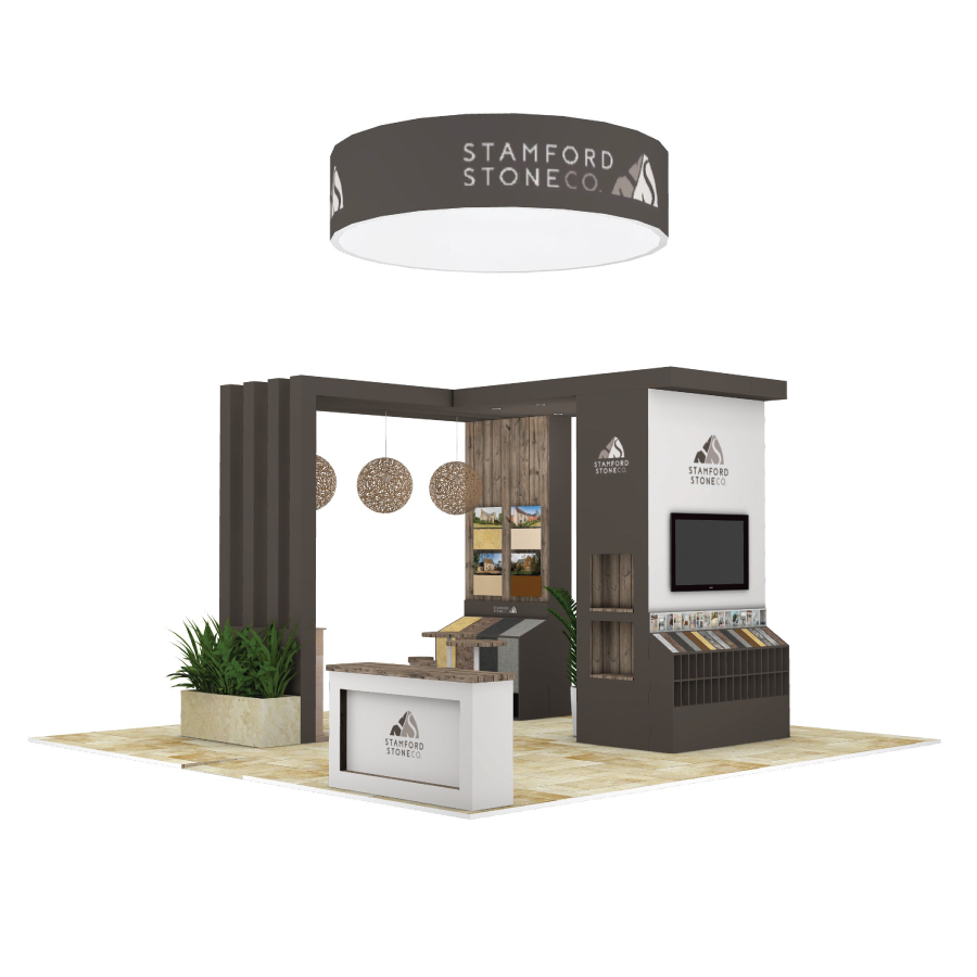 Stamford Stone bespoke space only exhibition stand design