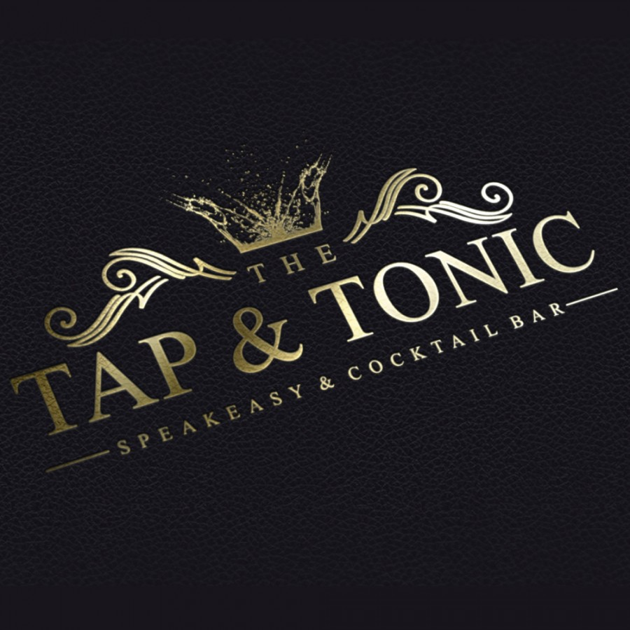 Tap and Tonic Speakeasy Cocktail Bar Logo Design