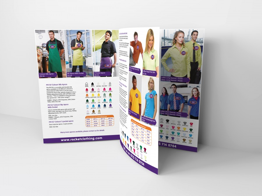 Brochure Design for Clothing company