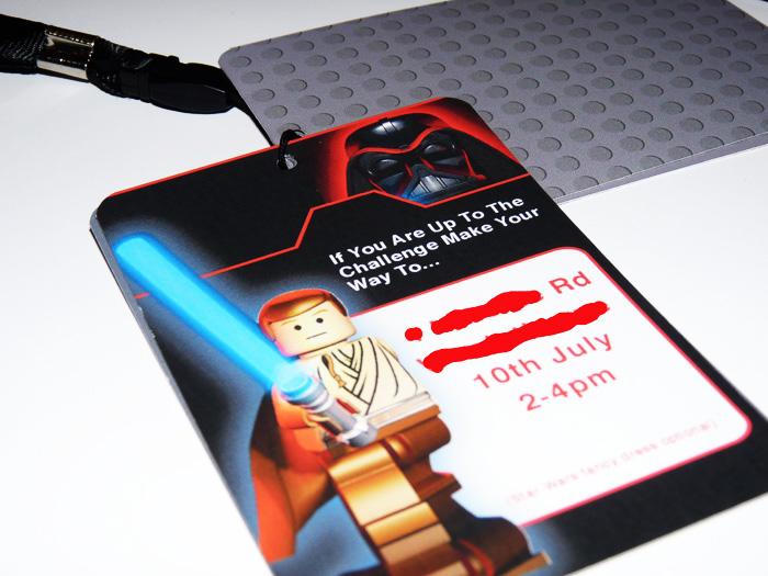 lego star wars party invitation invite design