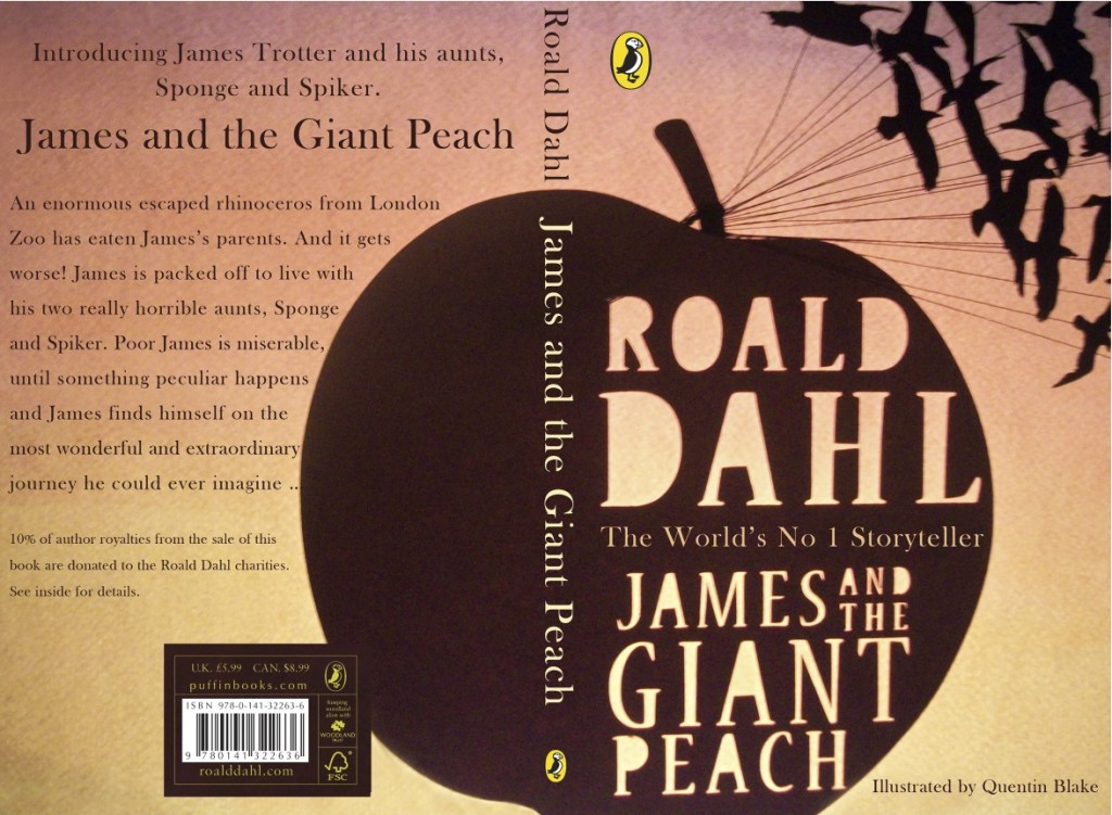 james and the giant peach book cover design