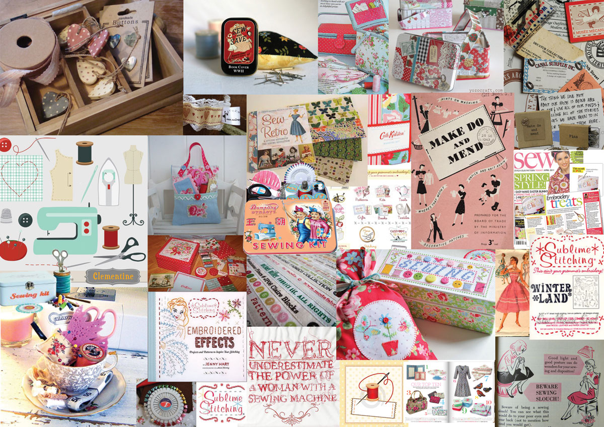 little sew and sew moodboard