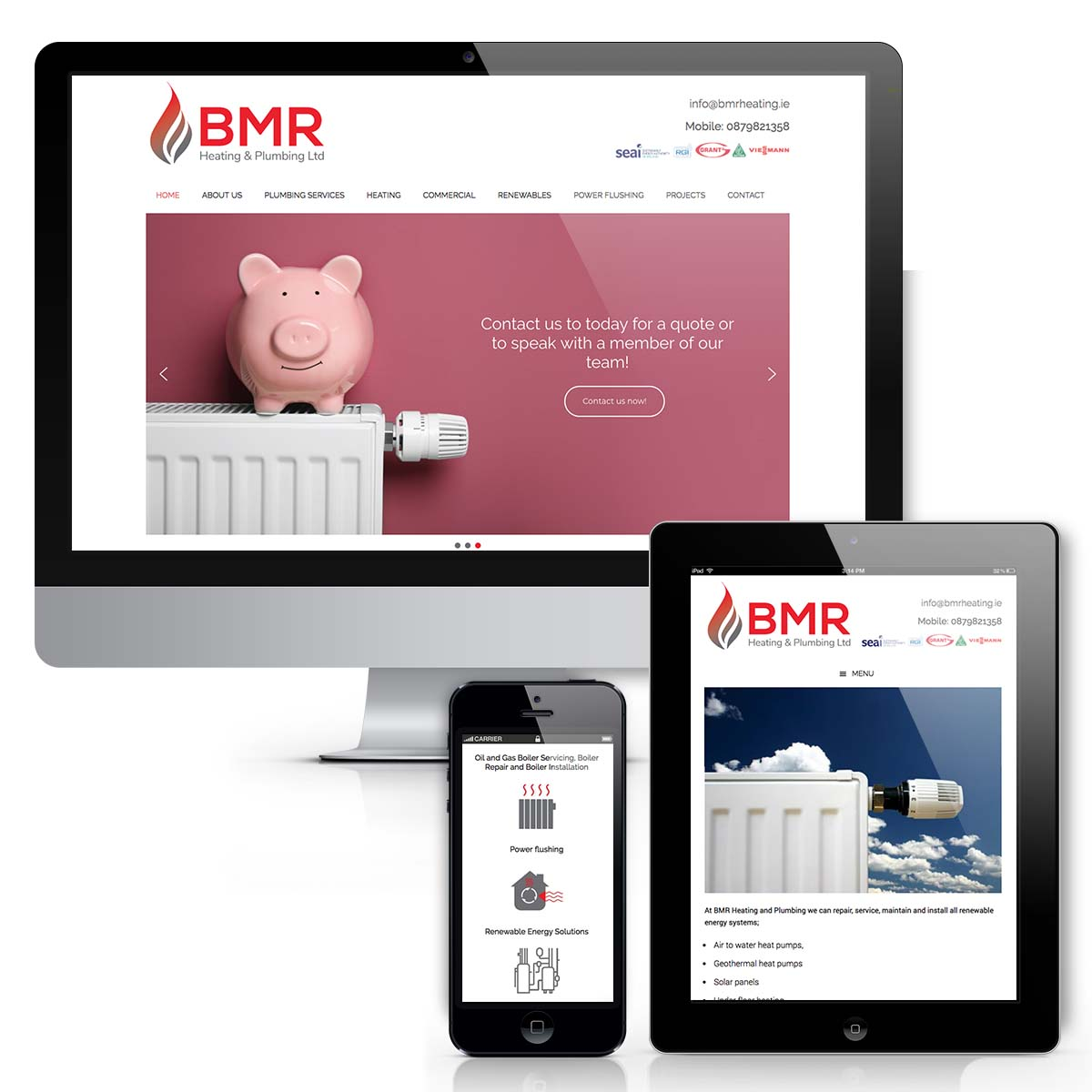 BMR Heating Web design