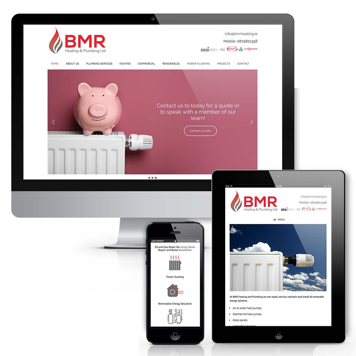 BMR Heating Web design