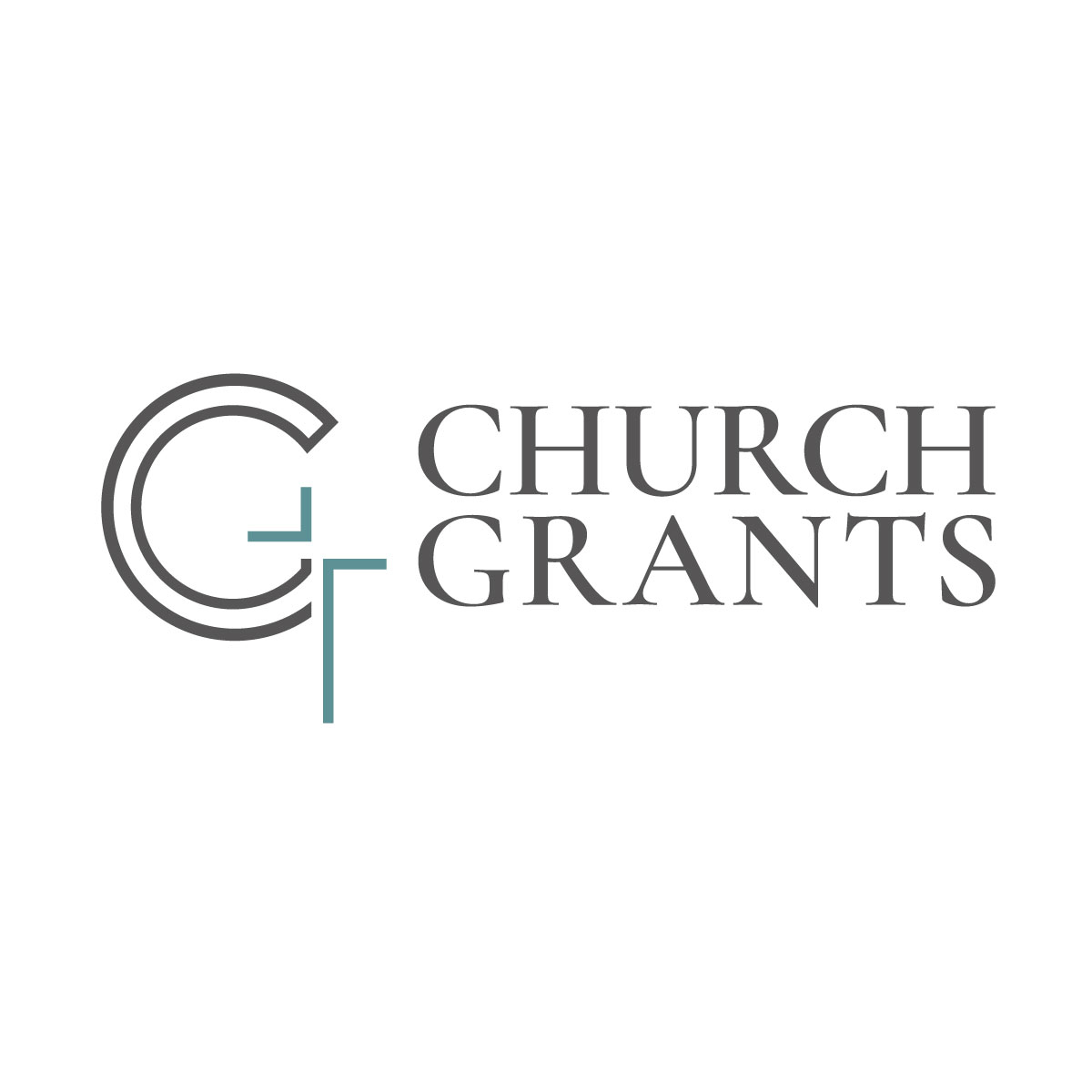 Church Grants Logo Design - C G and cross