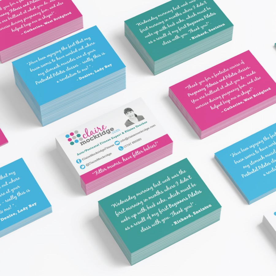 Claire-Mockridge business card design