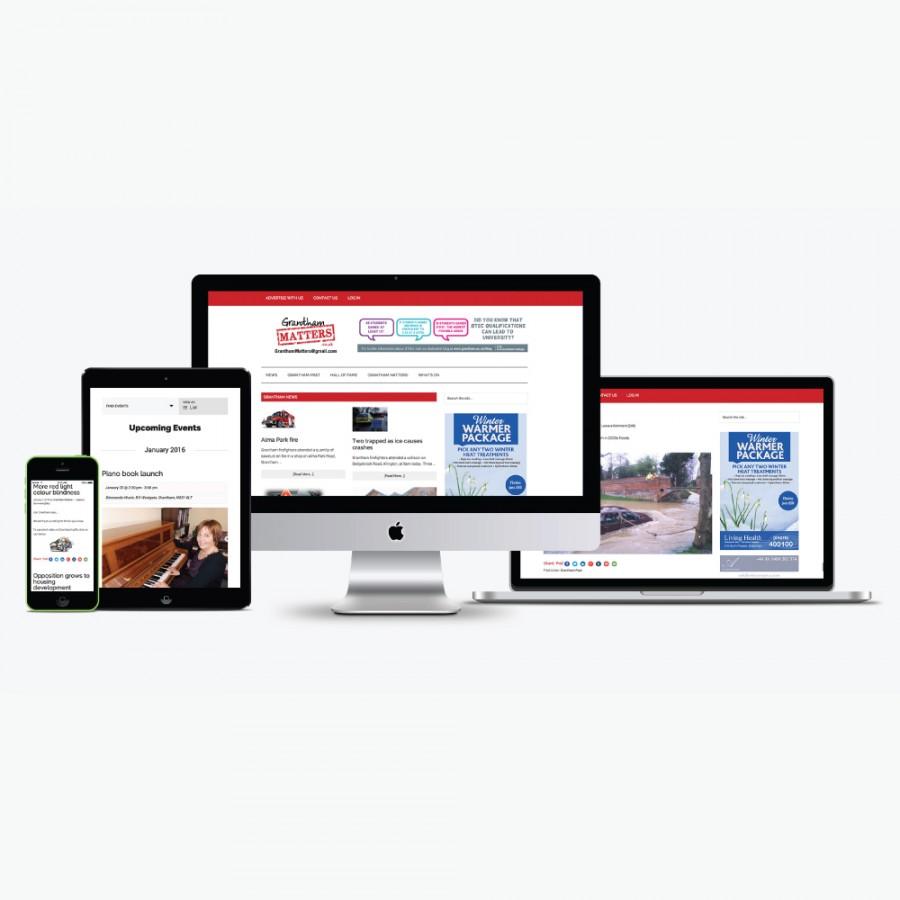 Grantham Matters Website design