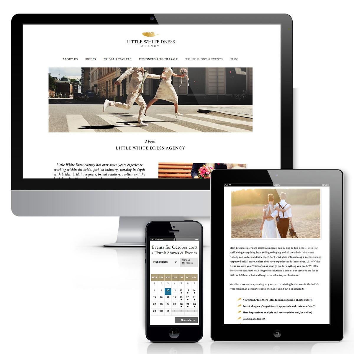 Little White Dress Agency Website design