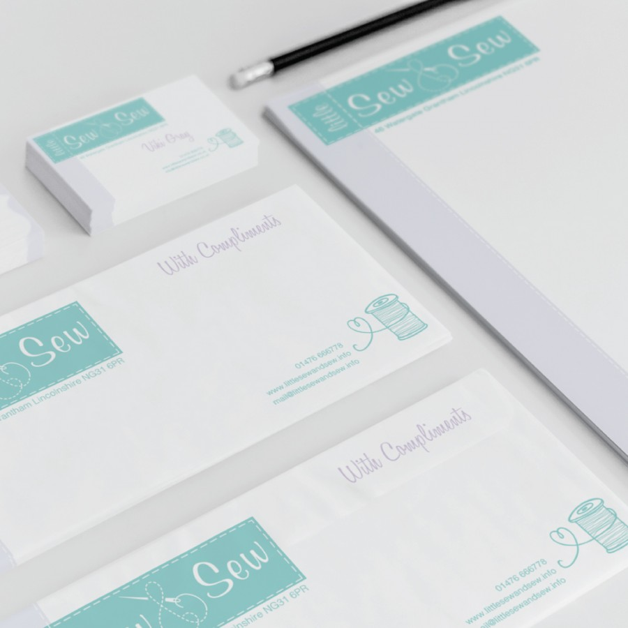 Little-sew-and-Sew Business Stationery Set