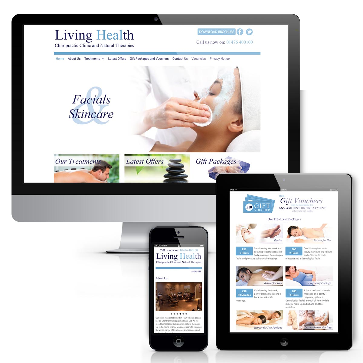 Living Health Website design