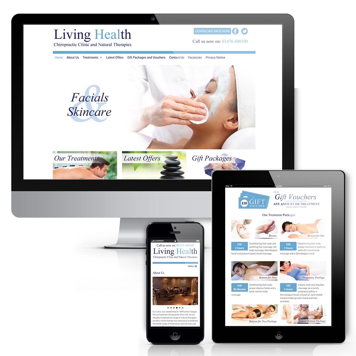 Living Health Website design