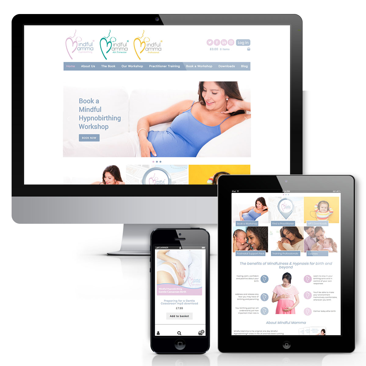 Mindful Mamma web design