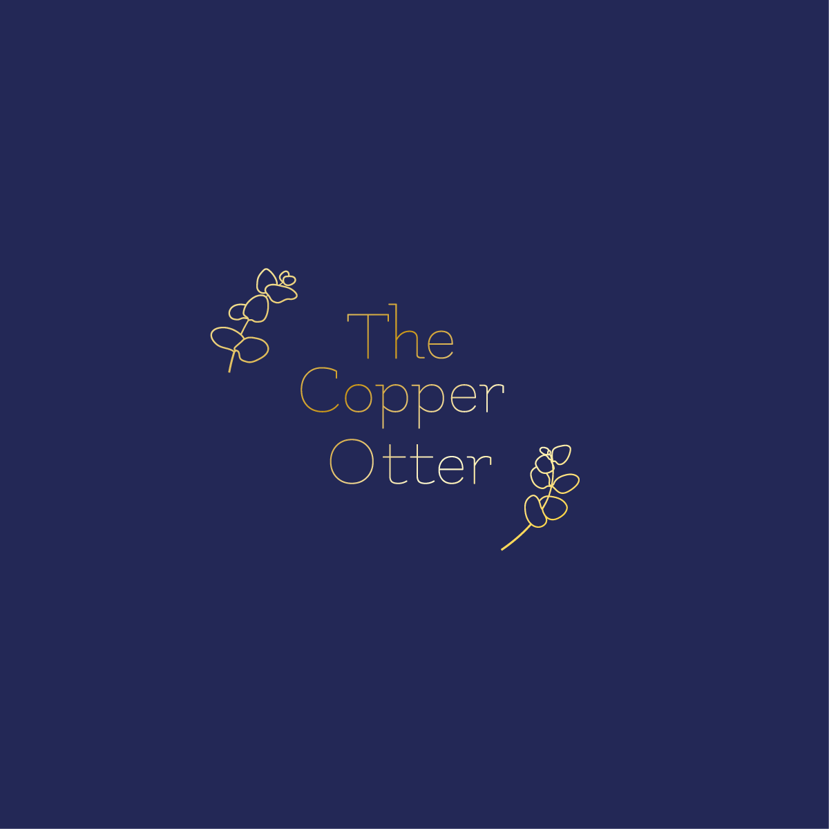 The Copper Otter Logo Design