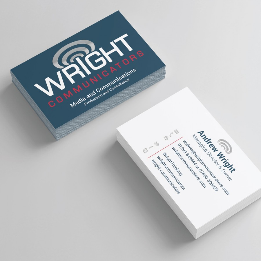 Wright Business Card Design