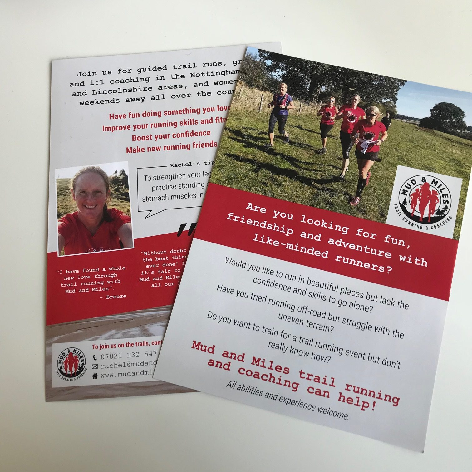 Mud and Miles Leaflets