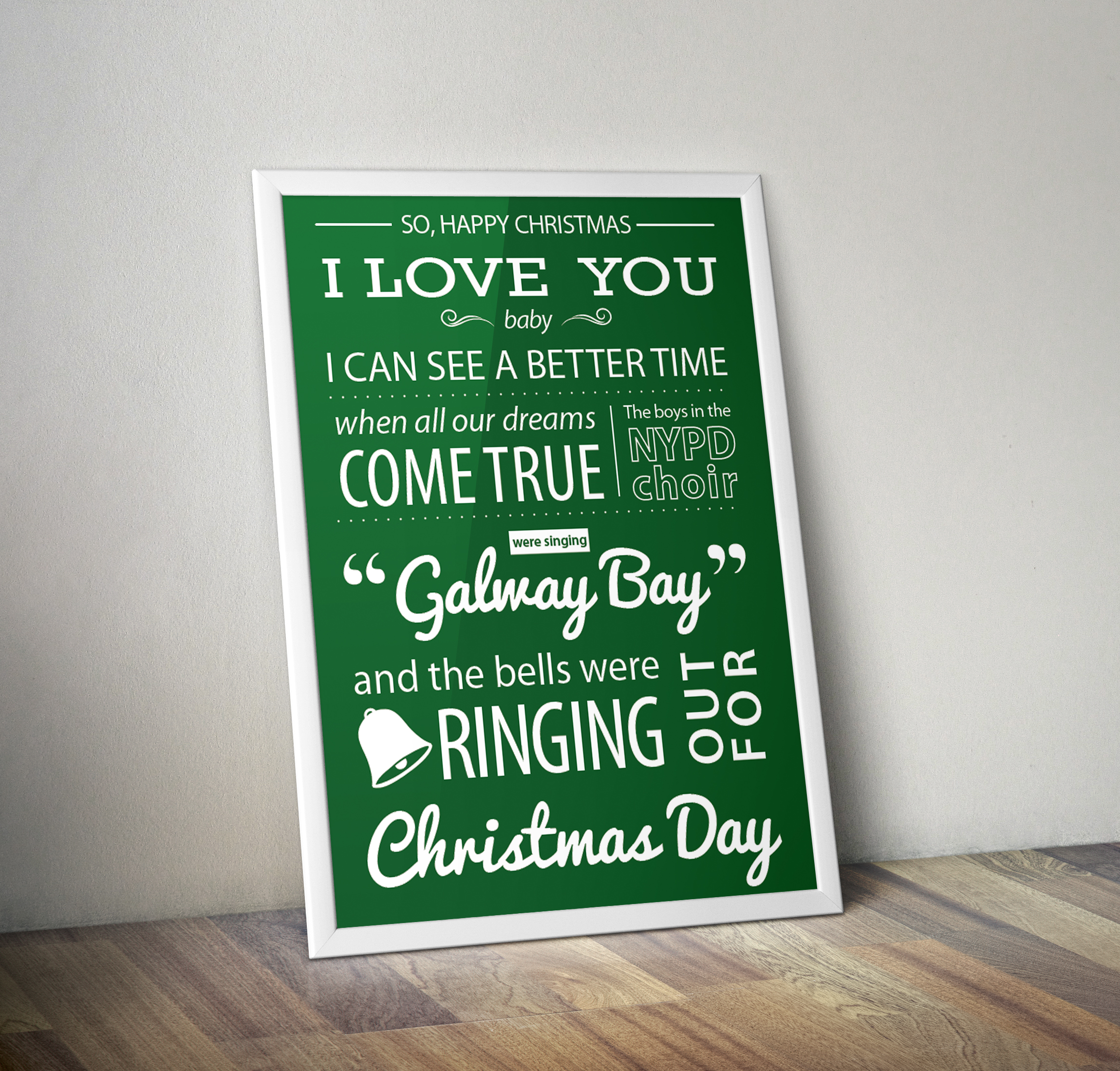 Typographical Lyrics Poster design