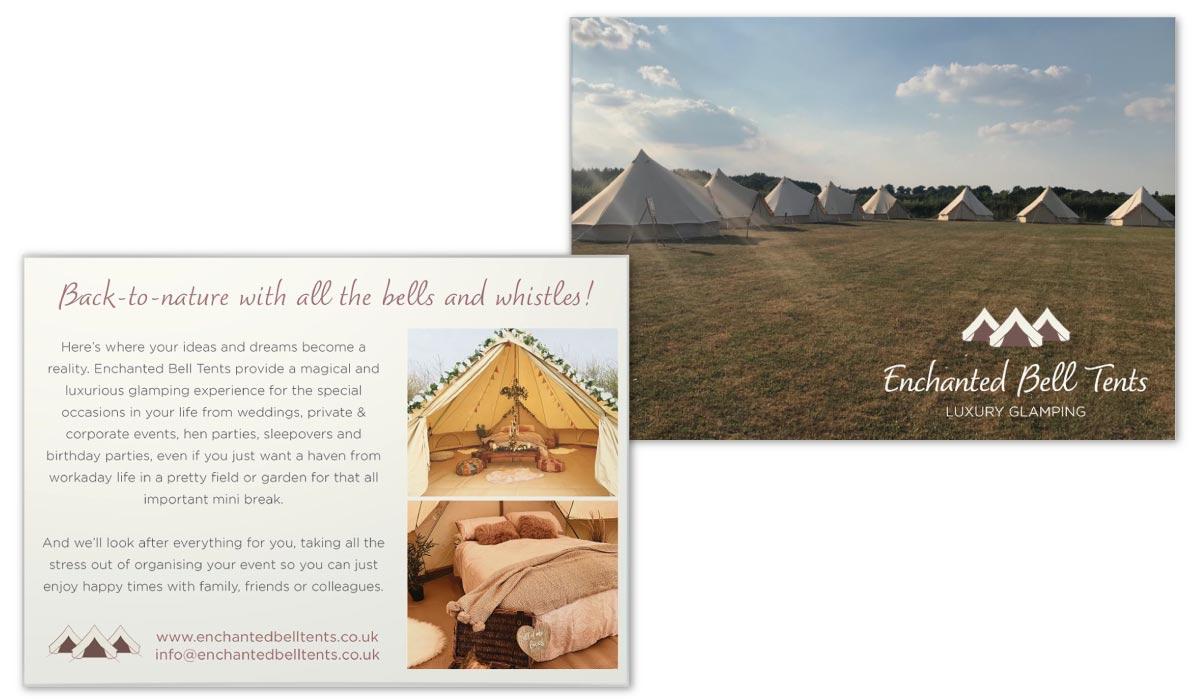 https://micheledonnison.co.uk/wp-content/uploads/2020/02/enchanted-bell-tents-Leaflet-postcard-design.jpg