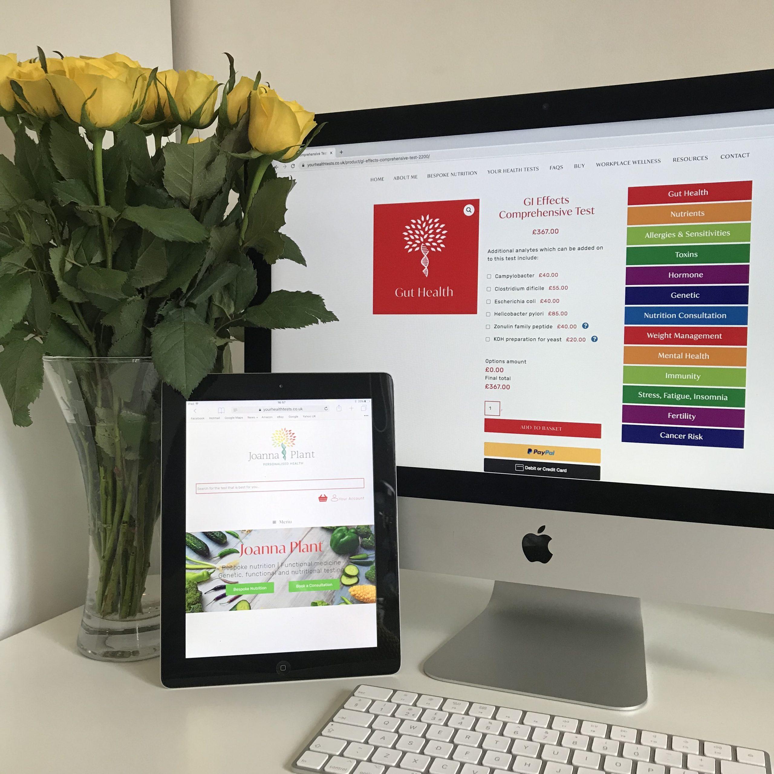 Health test e commerce website design